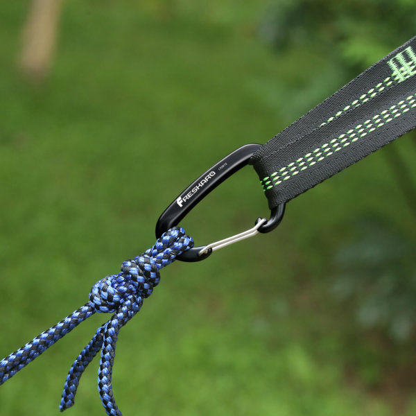 12kN Screw-locking Black Carabiner for Hammock
