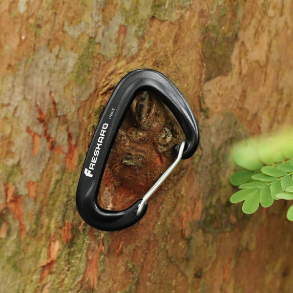12kN Wiregate Carabiner on tree