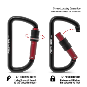 12kn screw gate carabiner info