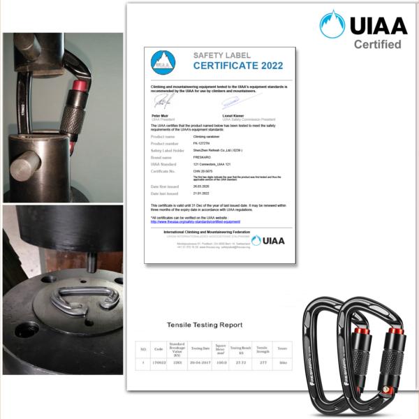 Freskaro Carabiner 25kN Certification 2021