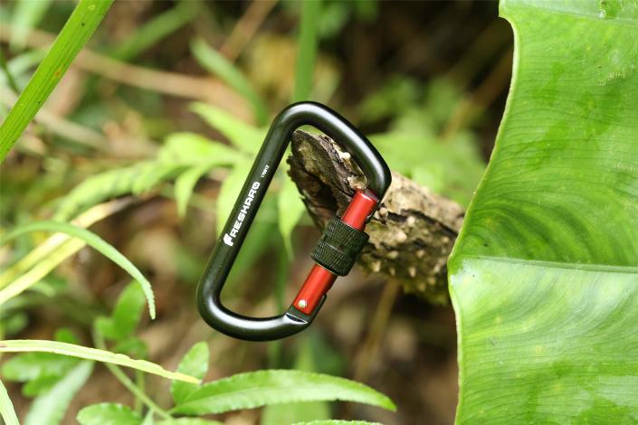 12kN Screw-locking Black Carabiner